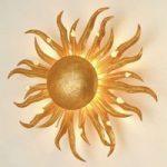Fascinerende SONNE GOLD væglampe 45 cm