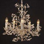 Eksklusiv Buono lysekrone i sølv med fem lys
