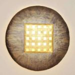 Innovativ Disque Extra Large væglampe i bronze