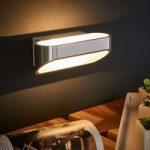 Den flotte LED-væglampe Onno, aluminium