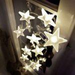 Attraktiv LED-stjernelyskæde, mat, 2 m