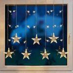 Dekorativt LED lysforhæng med stjerner