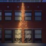 Fairybell® juletræ til facaden – 8 m