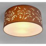Flora – loftslampe cappuccino med dekorering