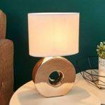 Gylden keramikfod – bordlampe Eye 38 cm