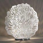 Bordlampe Coral, bladforsølvet, højde 51 cm