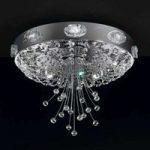 Elegance glansfuld loftlampe, krom, 9 lyskilder