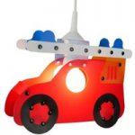 Børneværelses pendellampe Feuerwehrauto
