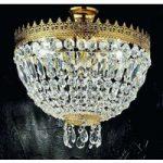 Cupola loftlampe med 24 karat forgyldning