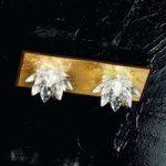 Fiore loftlampe med bladguld og krystaller, 2 lys