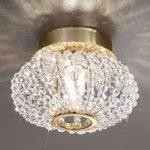 CARLA krystal-loftlampe med guld