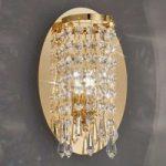 Nobel CHARLESTON væglampe i guld