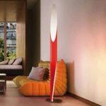 Kunstfærdig standerlampe SHAKTI, rød