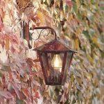 Udendørs væglampe Fenix i kobber, hængende