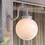 Stilfuld udendørs væglampe Arcturus i hvid