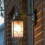 """Hængende udendørs væglampe """"Milano"""", i sort/sølv"""