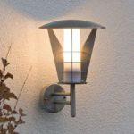 Rustfri udendørs væglampe Larissa i moderne design