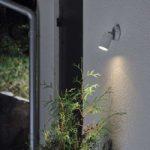 """Fleksibel udendørs væglampe """"New Modena"""", grå"""