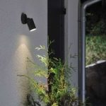 """Fleksibel udendørs væglampe """"New Modena"""", sort"""