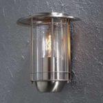 Udendørs væglampe Trento, i rustfrit stål