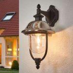 Hængende udendørs væglampe Parma m. rustfrit dække