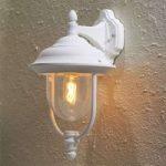 """Enkel udendørs væglampe """"Parma"""" – hængende, i hvid"""