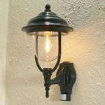 Udendørs væglampe Parma m. bevægelsessensor, grøn
