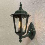 Opret udendørs væglampe Firenze B, i grøn