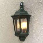 Lanterneformet udendørs væglampe Firenze, i grøn