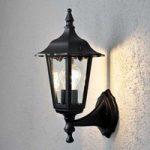 Opret udendørs væglampe Firenze S, i sort