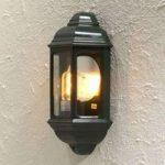 Klassisk udendørs væglampe Cagliari I, i grøn