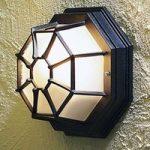 Udendørs lampe Wall/Roof, i sort