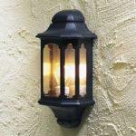 """Stilfuld udendørs væglampe """"Sicilia"""", i sort"""