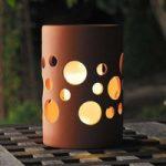 Solar LED haveblus New Genova, cylinder/terrakotta