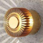 Bronzefarvet udendørs LED væglampe Monza
