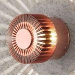 Kobberfarvet udendørs LED væglampe Monza