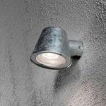 Lille udendørs væglampe Trieste i stål