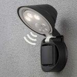 Batteridrevet LED udendørs væglampe Prato, 16 cm
