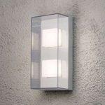 Rektangulær LED udendørs væglampe Sanremo