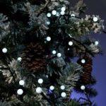 Kølig hvid LED lyskæde til ude brug, med 80 lys