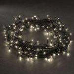 LED mikrolyskæde, varm hvid, med 180 lys, 17,5 m