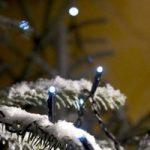 LED mikrolyskæde, kold hvid, 22,64 m, med 80 lys