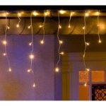 LED lysgardin isregn, varm hvid, 5 m, m. 200 lys