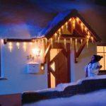 LED lysgardin istapper med 16 tapper, varm hvid