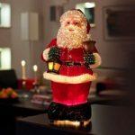 Venlig julemand i fiberoptik, 41,5 cm