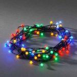 Kulørt LED lyskæde til udendørs, m. 80 lyskilder