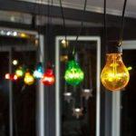 LED-lyskæde, grundsæt farvede pærer