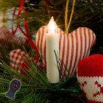 Batteridrevet juletræslys LED, hvid, 10 lyskilder