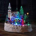 Batteridrevet LED-husscene – animeret