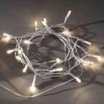 LED-lyskæde t. udendørs m. lyssensor IP44 ww